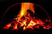 オーブンで火の炎 — ストック写真