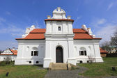 White Church with red roof — Stock Photo