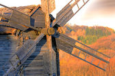 Wooden windmill — Foto Stock