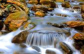 Nice cascade of mountain stream — Stock Photo