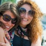 Two happy young beautiful women — Stock Photo #12415013