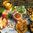 Traditional ukrainian food — Stock Photo