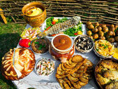 Traditional ukrainian food — Stockfoto