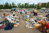 Flea market in Moscow — Stock Photo