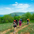 Hikers group walking — Stock Photo #15053615