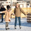 Skating rink in Gorky Park - Stock Photo