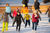 Skating rink in Gorky Park — Stock Photo