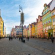 Wroclaw market square — Stock Photo #18794079