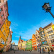 Wroclaw market square — Stock Photo