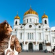 Cathedral of Christ the Savior in Moscow, Russia — Stock Photo