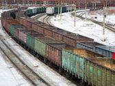 Freight wagons — Stock Photo