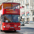 Sightseeing tour bus — Stockfoto