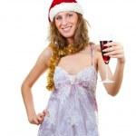 Girl in Santa hat — Stock Photo #2568128