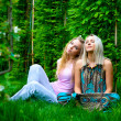 Two young women relaxing — Photo