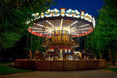 Merry-go-round carousel — Stock Photo