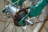Rear hub of old bicycle — Stock Photo
