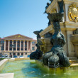 Neptune fountain in front of Ilya Chavchavadze State Drama Theat — Foto de Stock