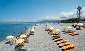 Batumi beach — Stock Photo