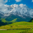 Stock Photo: Beautiful meadow landscape near Ushguli, Svaneti, Georgia.