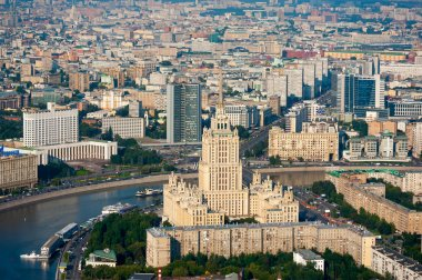 Day-time aerial view of Moscow, Russia.