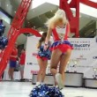 "Stock Video: MOSCOW - AUGUST 09: Cheerleaders perform on event ""Race to height"""
