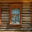 Windows in an old wooden house — Stock Photo
