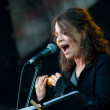 Singer Lucia Pulido (Columbia) performs at Usadba Jazz Festival — Stock Photo
