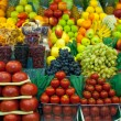 Lot of fresh fruits and vegetables for sale — Stock Photo #32227183