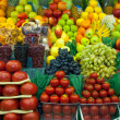 Stock Photo: Lot of fresh fruits and vegetables for sale