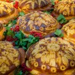 Russian or Ukrainian festive bread — Stock Photo