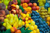 A lot of fresh fruits for sale — Stock Photo