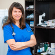 Stock Photo: Young woman vet doctor