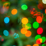 Christmas tree lights — Stock Photo