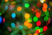 Noel ağacı ışıkları — Stok fotoğraf