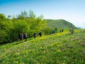 группа туристов, поход в крыму — Стоковое фото