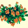 Bouquet of roses isolated on white background. — Stock Photo
