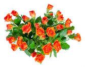 букет роз, изолированные на белом фоне. — Стоковое фото