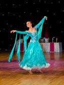 Female dancer performs — Foto de Stock