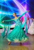 Bailarina realiza — Foto de Stock