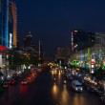 Bangkok city centre at night — Stock Photo #45700237
