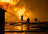 Firemen at work — Stock Photo