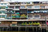 Poor home facade in Bangkok — 图库照片