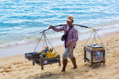 Beach vendor — Stock Photo