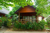 Bungalow in tropical resort — Stock Photo