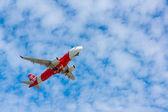 AirAsia plane takes off — Стоковое фото