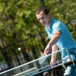 Young man playing table tennis — Stock Photo #50317871