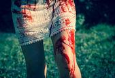 Kvinna zombie — Stockfoto