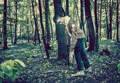 Zombie walking — Stock Photo