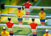 Plastic table football game — Stock Photo