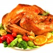 Roast turkey — Stock Photo #20247489